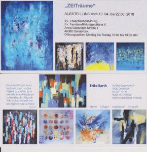Kunstkreis Georgsmarienhuette eV Ausstellungen Veranstaltungen Einladung ZEITräume Erika Barth