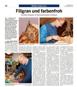 Kunstkreis Georgsmarienhuette eV NOZ Presseartikel Südkreiskurier November 2017